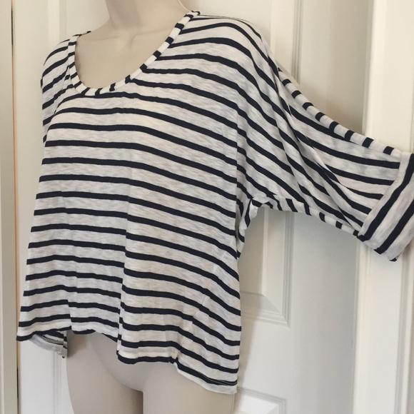 7a8bea875 Splendid Tops   34 Sleeve Raglan Sleeve Stripe T Shirt   Poshmark